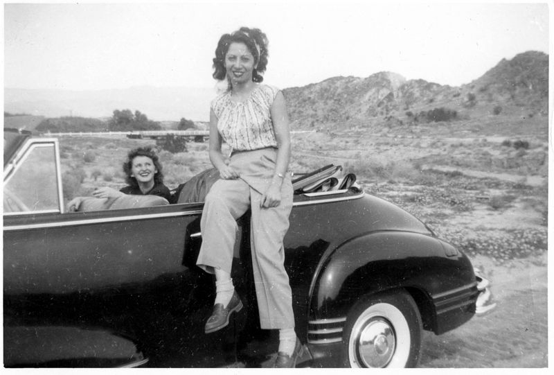 Mom with some Columbia Pictures pals near Palm Springs in the 1940's